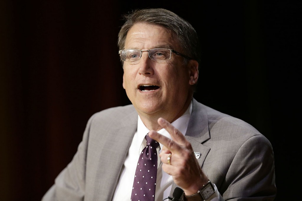 "The lawsuit filed on behalf of North Carolina Gov. Pat McCrory calls the new ""bathroom law"" a ""common sense privacy policy"" the Justice Department's position a ""baseless and blatant overreach."" The Associated Press"