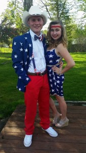 Corey Walker and Lizzie Stalling: Westbrook High prom, May 14