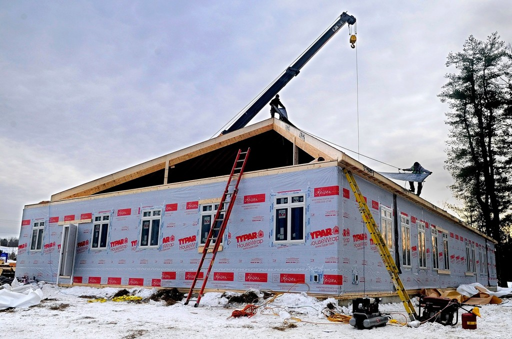 Keiser Homes in Oxford, which makes modular buildings such as this one in Augusta, is closing its manufacturing facility in Oxford.
