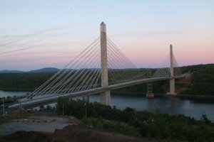 The Penobscot Narrows Bridge & Observation Tower in Stockton Springs