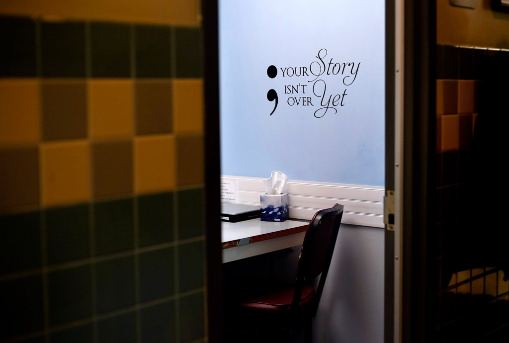 A room at the Scarborough Police Department is used for screening addicts who seek help from Operation Hope. Three police departments in York County announced Wednesday that they will start a similar program.