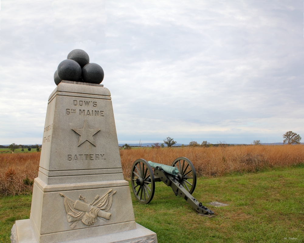 6th battery of maine civil war monument at gettysburg