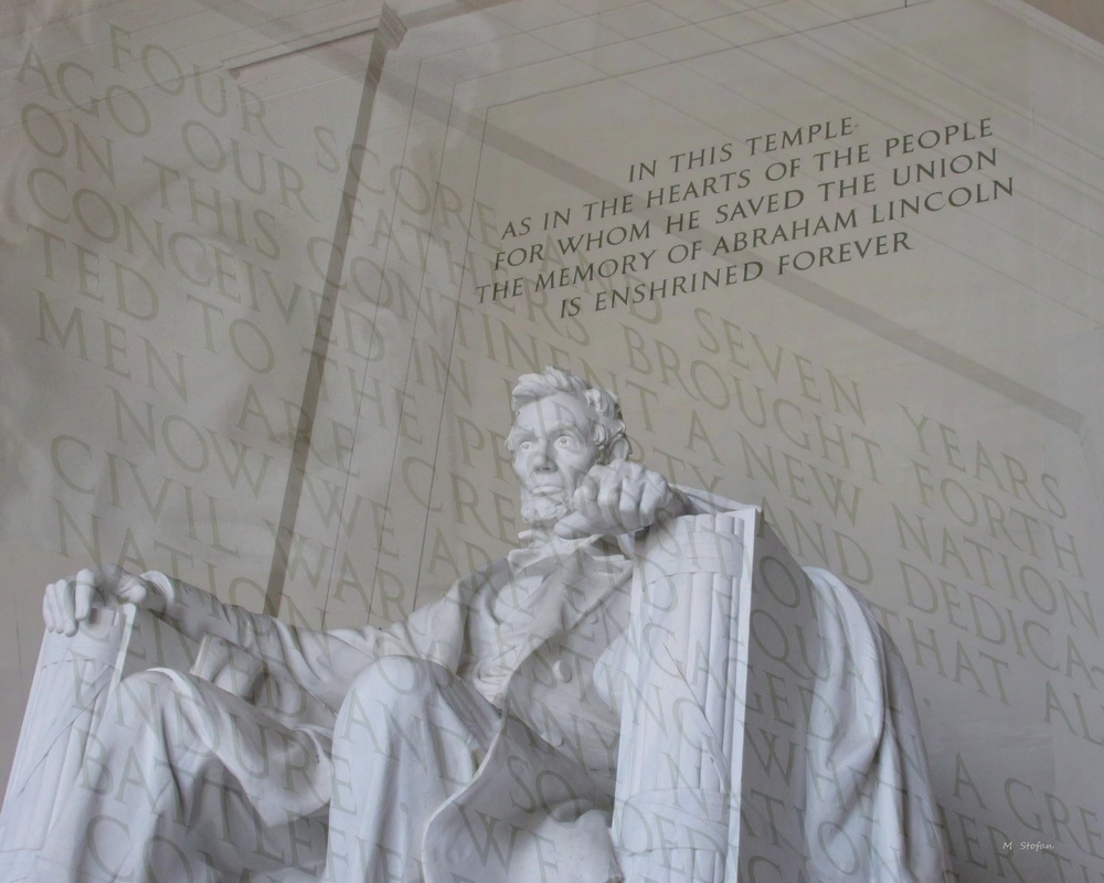 lincoln memorial, four score and seven years ago. . .