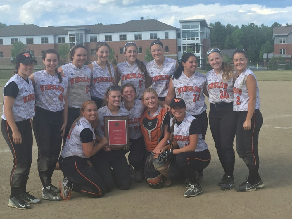 The Winslow High School softball team defeated Oceanside High School 14-10 to win the Kennebec Valley Athletic Conference Class B title Saturday at Thomas College in Waterville.