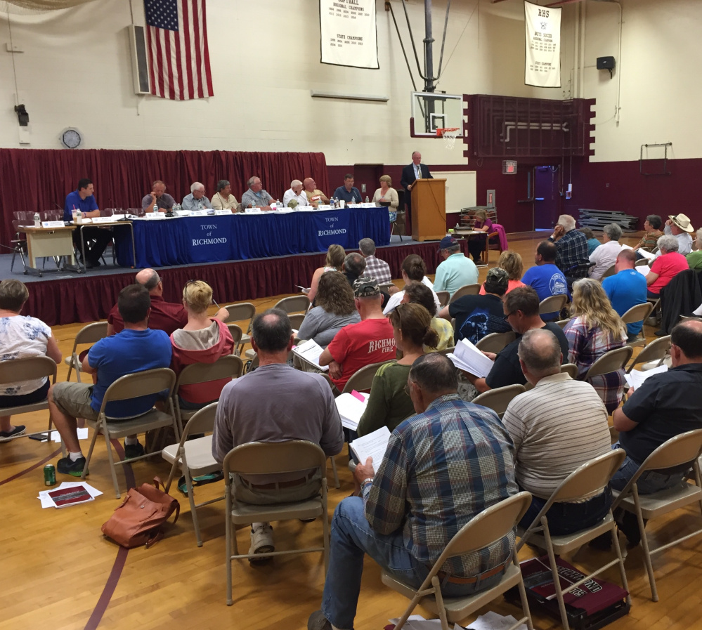Nearly 75 Richmond residents turned out Tuesday at the gymnasium at Richmond High School to vote on the town's spending plan for the upcoming fiscal year. Election of candidates for town offices will take place June 14.