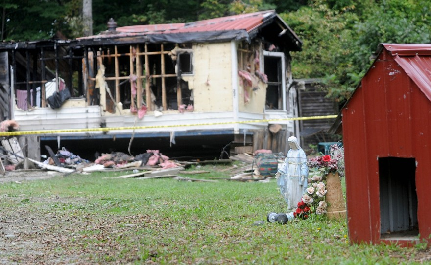 A mobile home at 289 Brown's Corner Road in Canaan was destroyed by fire on Sept. 21. Matthew Short, of Canaan, pleaded guilty Tuesday to setting fire to the home belonging to Aldo Baldie and Ron Pelletier.