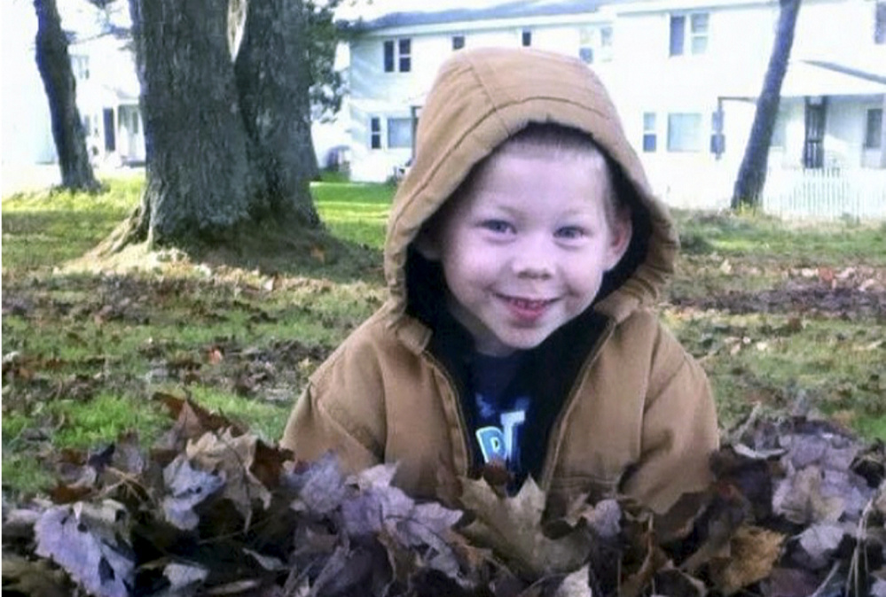 Hunter Bragg, 7, was killed last week by a dog in Corinna.