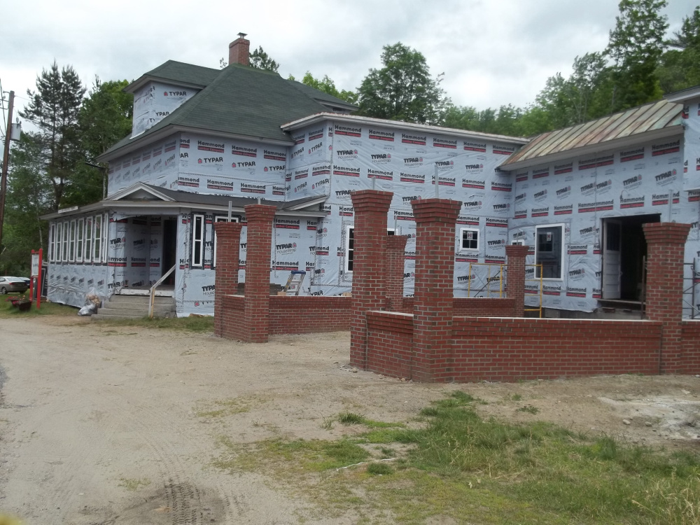 Construction on the Wilton Play Museum continues with work on the exterior, including a brick courtyard, siding and windows.