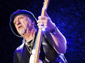 Brad Whitford of American band Aerosmith performs live on stage during a concert at Arena Anhembi on October 30, 2011 in Sao Paulo, Brazil.
