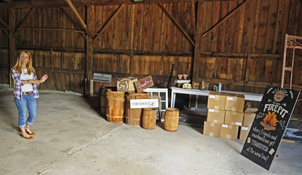 Veronica Carbona Talks About Signs And The Venue During A Tour Thursday At Barn