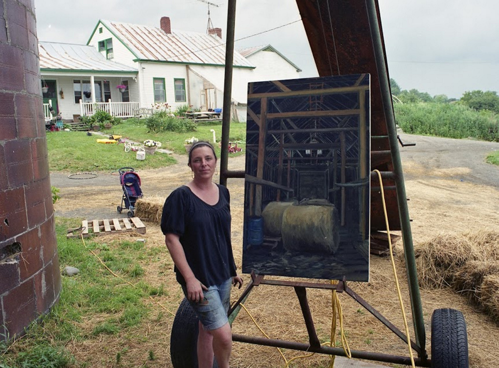CSA 2012 Artist Kate Emily Barnes was paired with Grassland Organic Farm in Skowhegan.