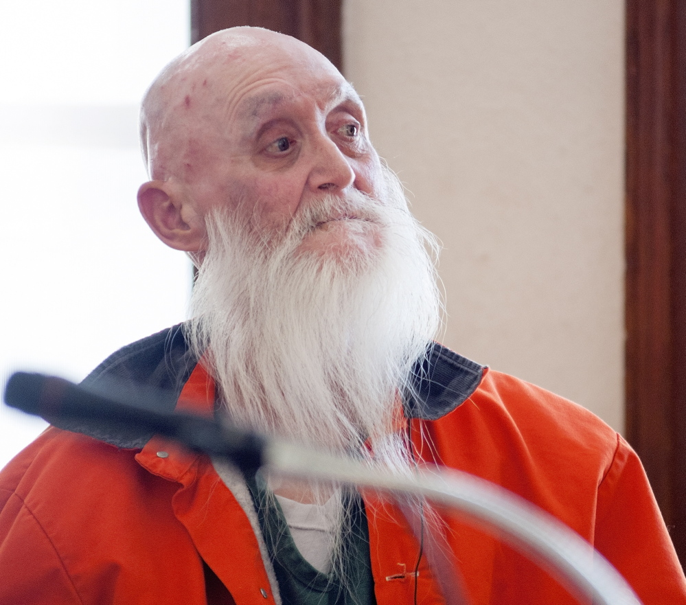 Gary S. Raub, shown here in a 2014 file photo during a court appearance on a charge of criminal homicide, died Wednesday at PenBay Medical Center in Rockport after serving about two years of a 20-year sentence.