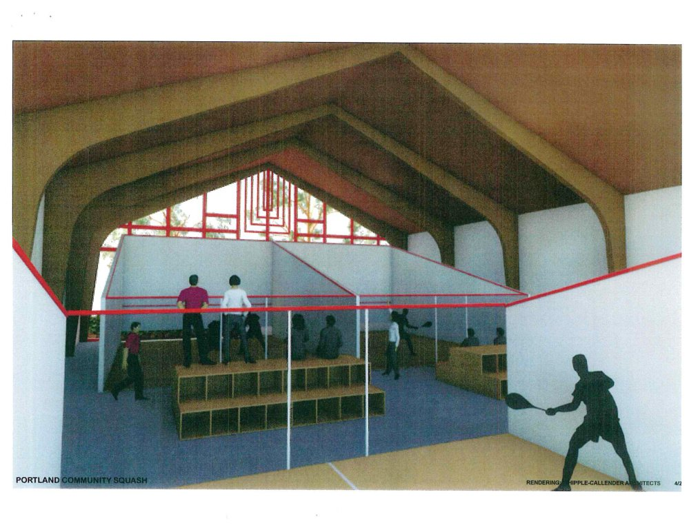 Portland Community Squash, a nonprofit that teaches and mentors local students, is working to buy Shaarey Tphiloh Synagogue on Noyes Street, where it plans to build squash courts.