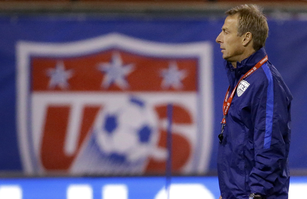 Jurgen Klinsmann, the U.S. men's soccer coach, says his team's goal in the Copa America isn't simply to get out of a tough four-team group with Colombia, Paraguay and Costa Rica, but to then win a quarterfinal match.