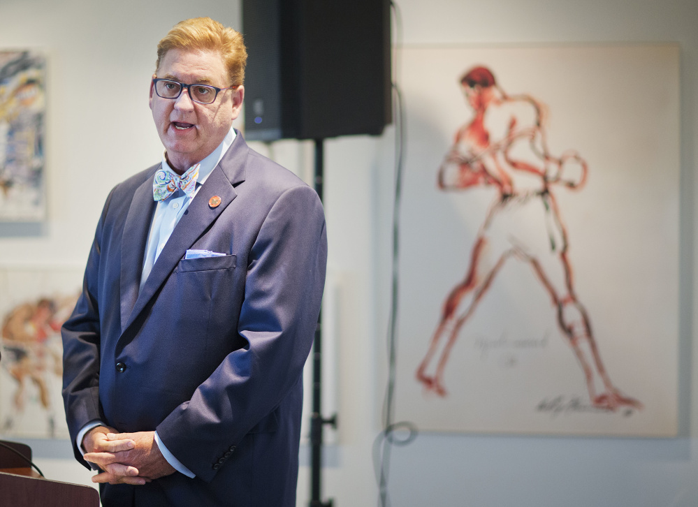 """Muhammad Ali family spokesman Bob Gunnell says the three-time heavyweight boxing champion was never sad while planning his memorial. Gunnell recalled Ali's words during meetings planning the funeral: """"It's OK. We're here to do the job the way I want it. It's fine."""""""