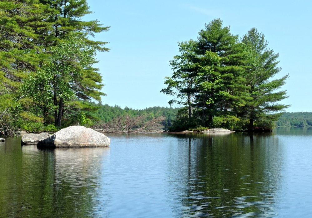 Small islands dot the Androscoggin Riverlands, each providing a unique environment for flora and fauna – and for a solitude-seeking canoeist.