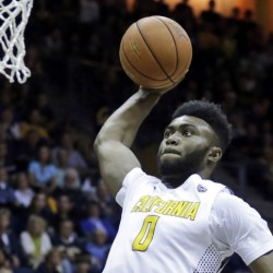 Jaylen Brown, the Celtics choice at No. 3 overall in the NBA draft on Thursday, lays up a shot for California against Oregon State in February.