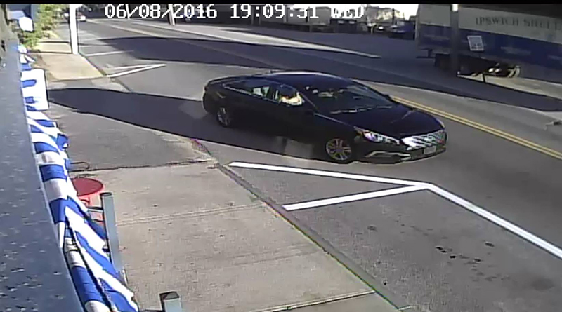 Police say this Image from a security camera shows the car that reportedly picked up Khaitlynn Prosser Wednesday evening in Ellsworth.