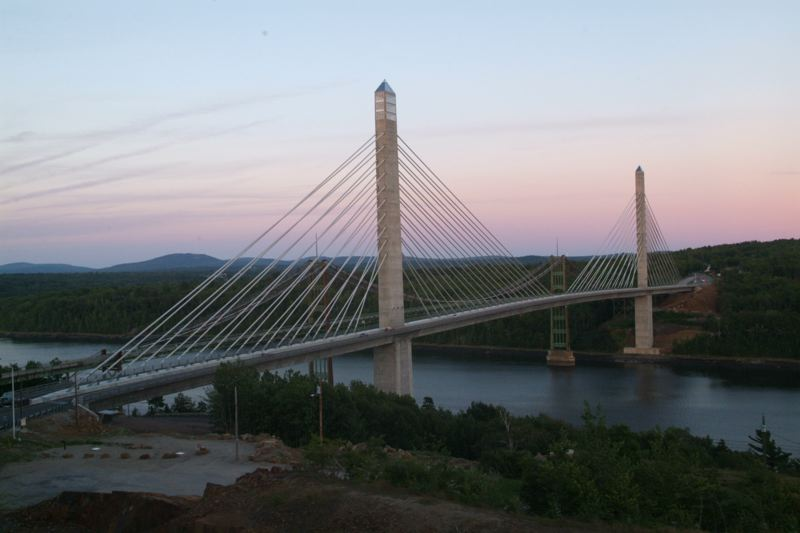 (FILE) The Penobscot Narrows Bridge and Observatory.