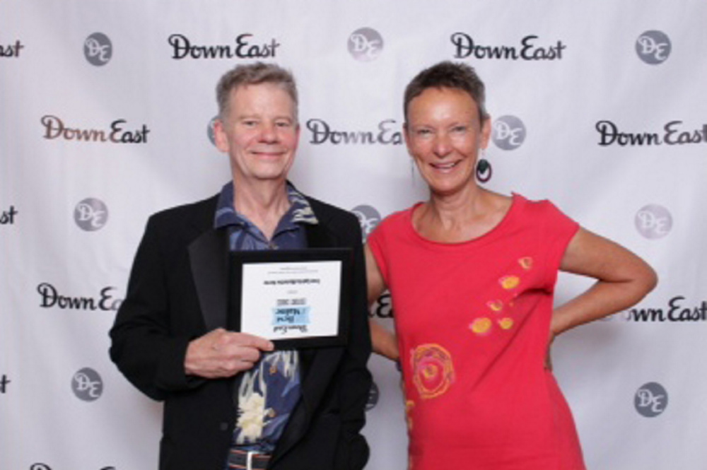 Tree Spirits winery and distillery received the 2016 Down East magazine Editors' Choice award for Best Spirit for its absinthe verte. From left are Bruce Olson and Karen Heck.