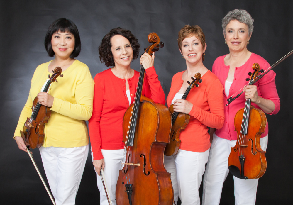 Members of the Cassatt String Quartet, from left, Muneko Otani, violin; Elizabeth Anderson, cello; Jennifer Leshnower, violin; and Sarah Adams, viola.