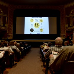 The Waterville Opera House fills up on Friday for the opening night of the Maine International Film Festival.