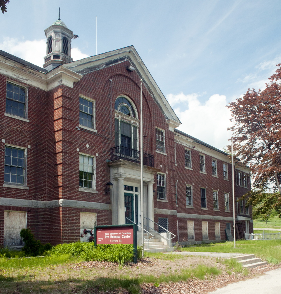 The former pre-release center in the Stevens School complex in Hallowell, where a developer wants to bring life back to the largely vacant property.