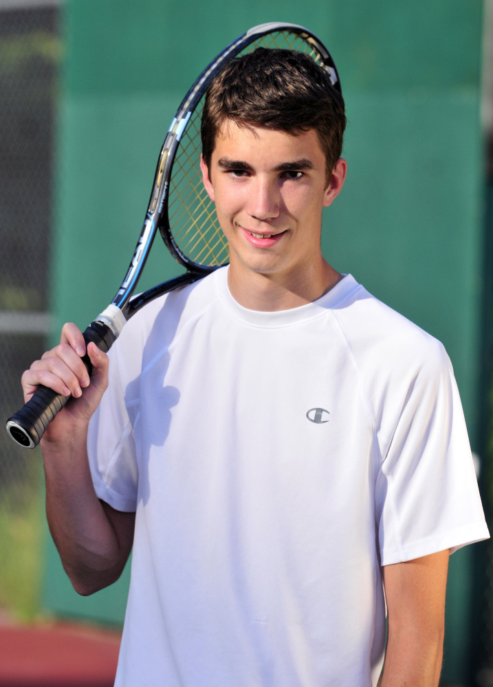 Hall-Dale's Andy Peterson is the Kennebec Journal Boys Tennis Player of the Year.