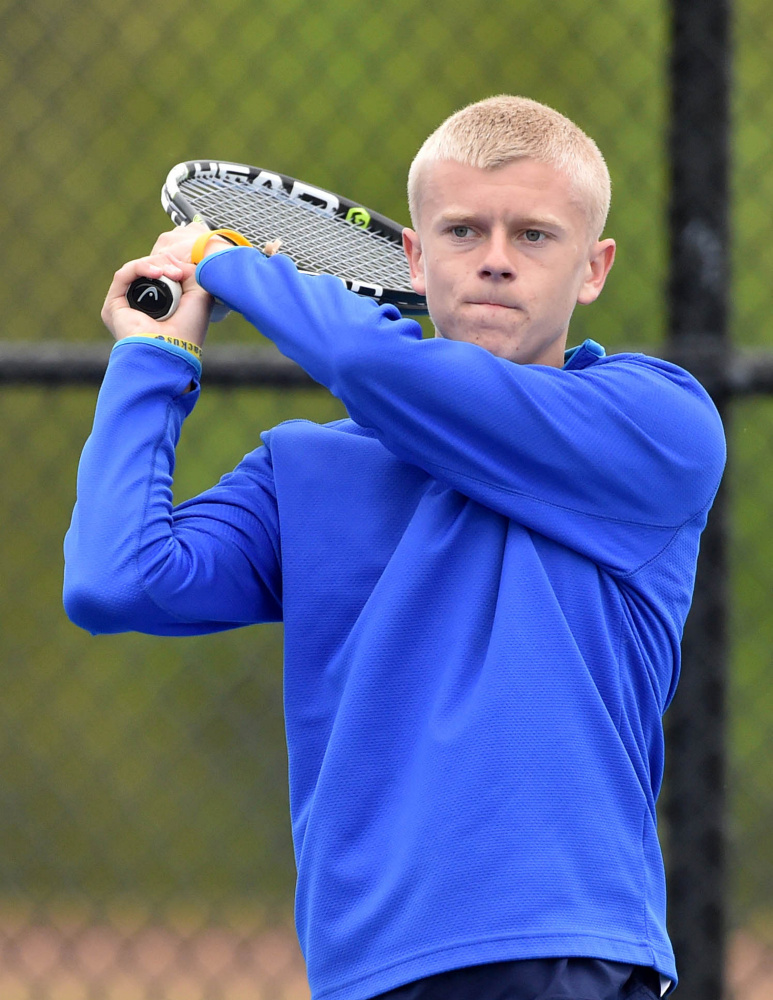 Mt. Blue senior Evan Backus is the Morning Sentinel Boys Tennis Player of the Year.