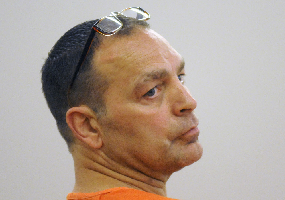 Raymond Bellavance, convicted in 2011 of burning down the Grand View Topless Coffee Shop in Vassalboro, sought a new trial Wednesday during a hearing at the Capital Judicial Center in Augusta.