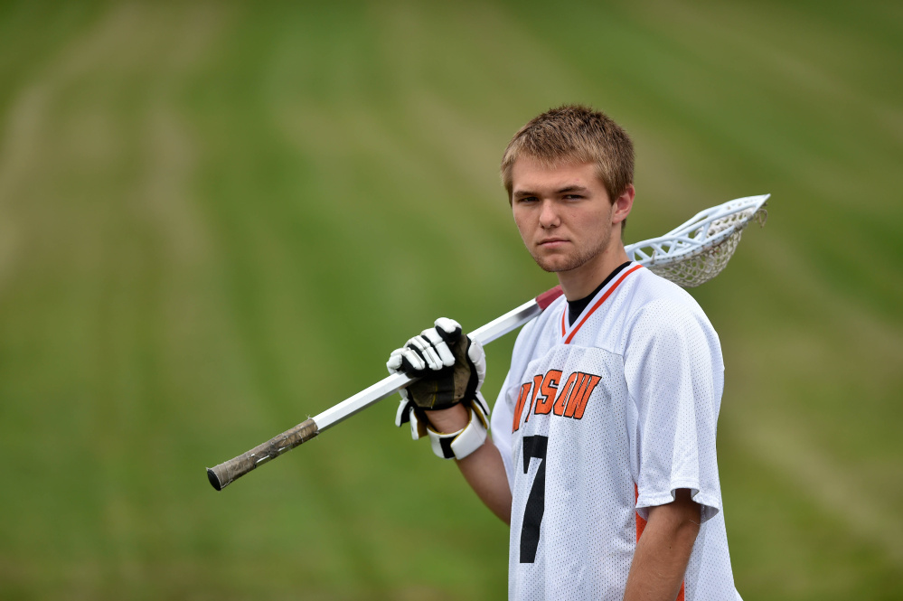Winslow High School senior Jimmy Fowler is the Kennebec Journal/Morning Sentinel Boys Lacrosse Player of the Year.