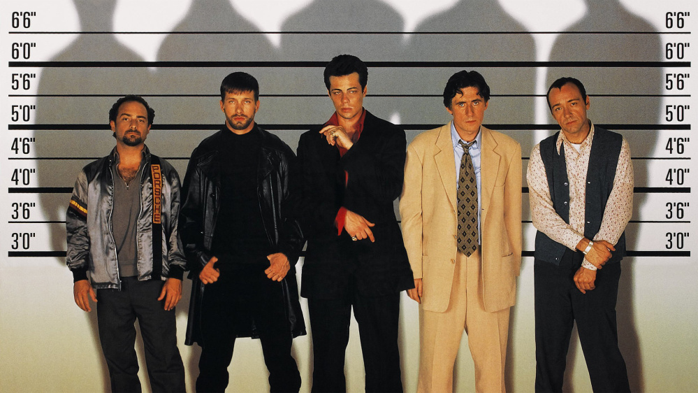 """The Usual Suspects,"" starring Gabriel Byrne, second from right, the Maine International Film Festival Mid-Life Achievement Award winner, will be shown at 6:30 p.m. Friday at the Waterville Opera House."