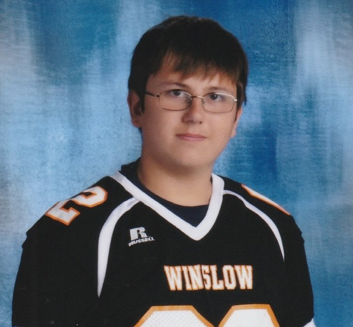 Garrett Choate, 14, of Winslow, was selected to participate in the USA Football National Development Games in Canton, Ohio.