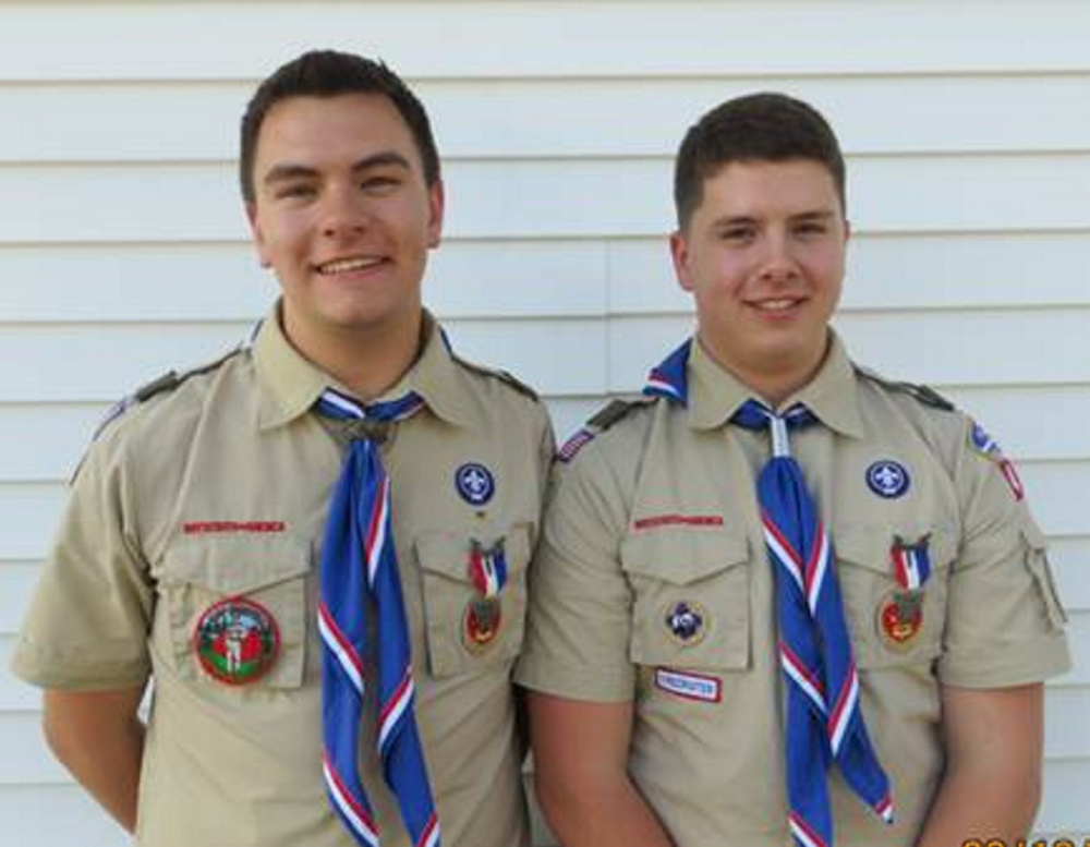 A celebration recently was held at the Palermo Christian Church for Eagle Scouts Daniel Ray Brown, left, and Jacob Aaron Brown, right, of Troop 479.