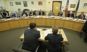 Cynthia Montgomery, then-legal counsel to Gov. Paul LePage, answers questions about an OPEGA report before the Government Oversight Committee at a hearing in Augusta last year. Videos of hearings like this should be archived.