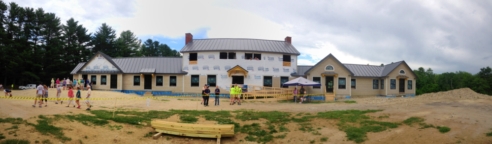 Visitors look around on Saturday at the Travis Mills Foundation's Maine Chance Lodge in Mount Vernon and Rome.
