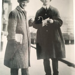 Arthur G. Lockwood, left, stands with Francis Ouimet. Research by Augusta Country Club members revealed that Lockwood may have helped design the course.