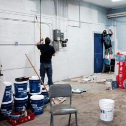 People convicted of misdemeanors in Somerset County can participate in community service in lieu of going to jail, in this case, painting walls at the Madison Junior High School on July 17.