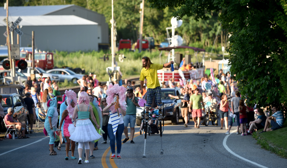 The OakFest parade makes it way up Main Street towards Church Street during OakFest in Oakland on Friday.