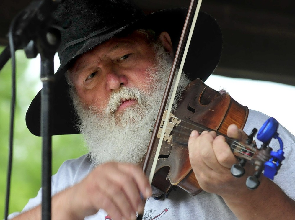 Fiddler Danny Thompson competes in the 42nd East Benton Fiddlers Convention and Contest in 2014. This year's festival is scheduled for Sunday.