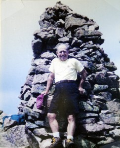 This contributed 1991 photo shows Alfred Jacobs, then 71 years old, on top of Mt. Katahdin.