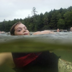 Dain Whitney, 11, of Litchfield strokes his way through the water during a swim class at Camp Susan Curtis in Stoneham, which serves about 500 Maine young people each summer.