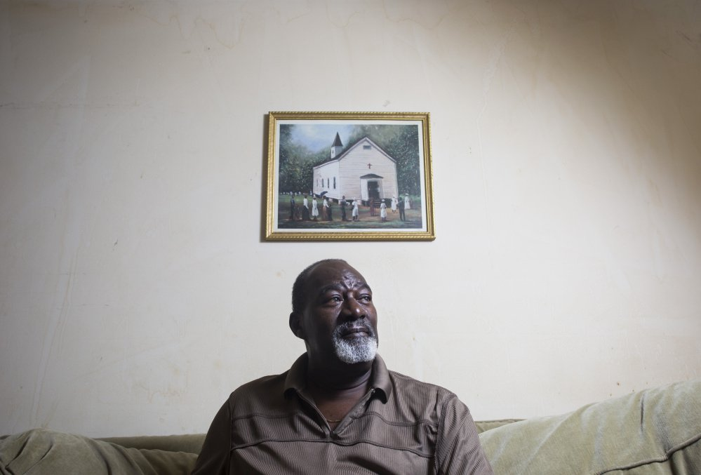 """Richard Tarrence of Gorham, photographed at his home in Gorham on Friday, July 15, 2016, believes he has been stopped by police a number of times for """"driving while black."""""""