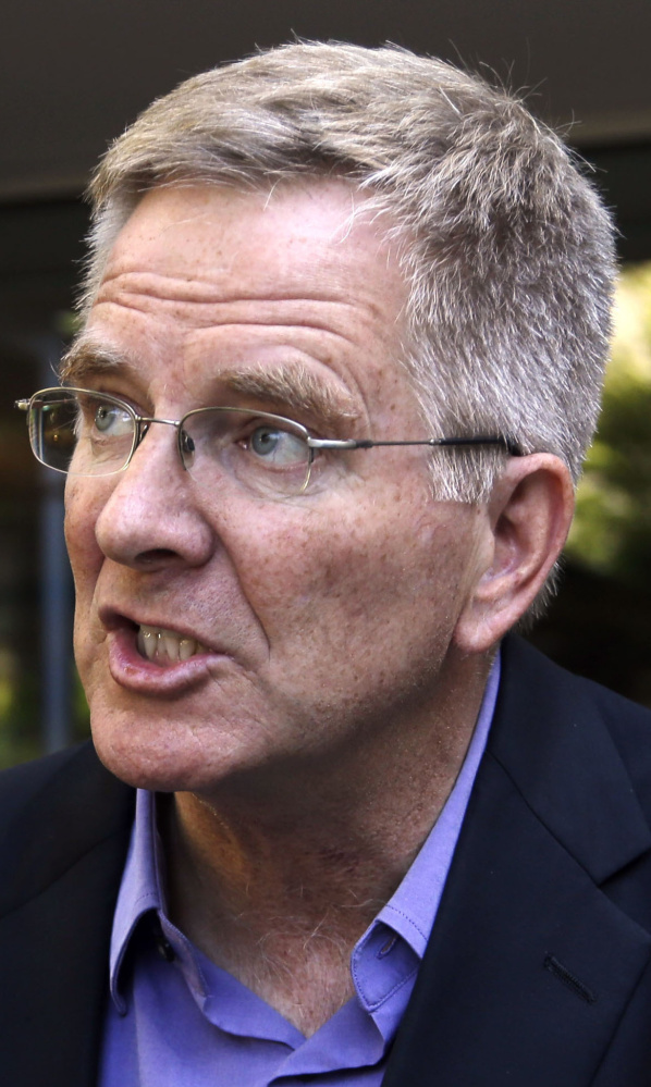 Rick Steves, one of the country's most visible advocates of marijuana legalization, speaks during an interview in Portland, Ore., in this 2014 file photo.