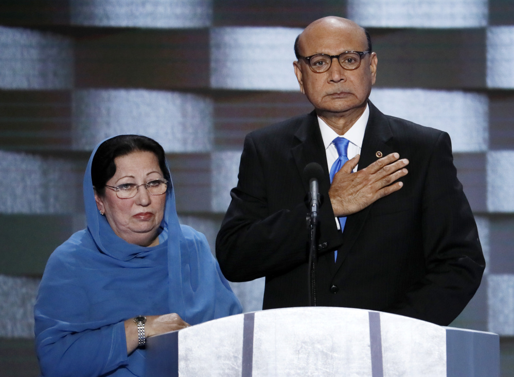 The Muslim parents of a soldier who was killed in Iraq in 2004, Ghazala and Khizr Khan, are targets of Donald Trump, since their appearance at the Democratic National Convention last week.