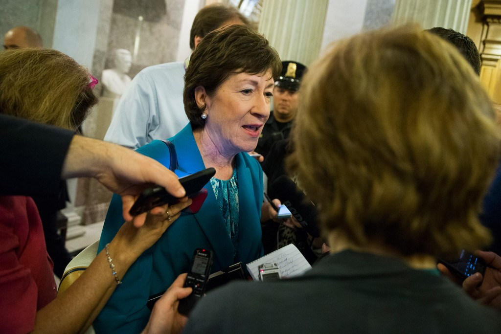 "Sen. Susan Collins, R-Maine, says Donald Trump's acceptance speech Thursday night ""was one of the better speeches he has given. He focused less on himself and more on what the wanted to do for the country."""