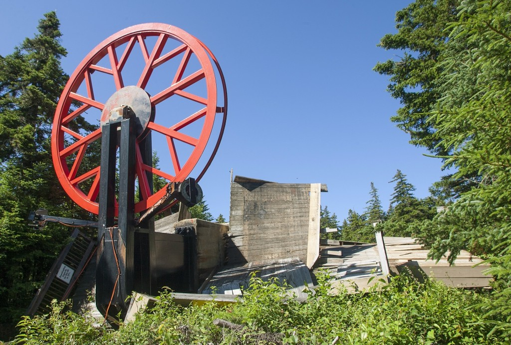 Wreckage at the top unloading terminal of Sunday River's Spruce Peak Triple ski lift lie scattered on the ground after the lift separated  from its foundation. Nick Lambert/Sunday River via AP