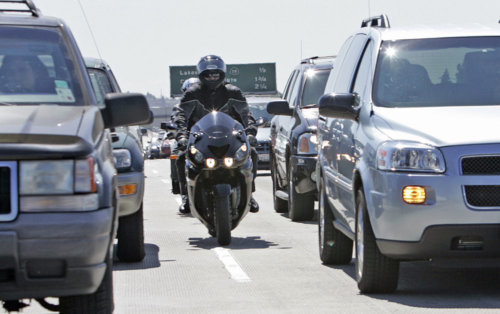 Lane splitting, in which motorcyclists travel along the lane line between vehicles, has become legal in California. The law when proposed was said to provide several positives including reducing traffic congestion and promoting safety.
