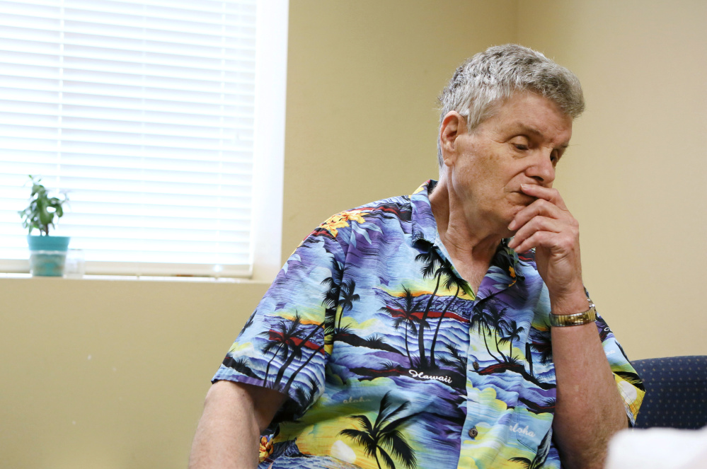 Bryon Martin at a Las Vegas senior living center. Most of his possessions are back in Maine, where he lived for many years.