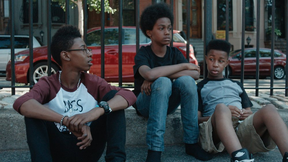 "Members of the band Unlocking the Truth -- Malcolm Brickhouse, Alec Atkins and Jarad Dawkins -- in the documentary ""Breaking a Monster."" The film follows the fate of the metal band from the moment film producer Alan Sacks signs on as their manager. (Ethan Palmer/Breaking a Monster/TNS)"